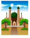 Illustratie van Islamitische Moskee bij dag royalty-vrije illustratie