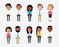 Illustratie van Karakters die Bureauberoepen afschilderen stock illustratie