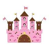 Illustratie van kasteel Stock Foto