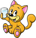 Illustratie van kat Stock Fotografie