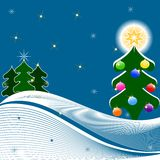 Illustratie van Kerstboom Stock Afbeelding