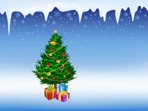 Illustratie van Kerstboom Royalty-vrije Stock Afbeeldingen