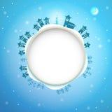 Illustratie van Kerstmiskader Stock Fotografie
