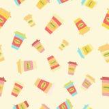Illustratie van kleurrijk Koffiepatroon Stock Foto's