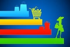 Het winkelen Achtergrond Royalty-vrije Stock Foto's