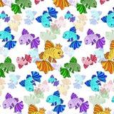 Illustratie van kleurrijke vissen op een witte achtergrond Stock Afbeeldingen