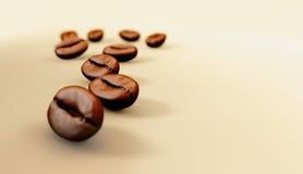 Illustratie van Kop met koffiebonen op witte achtergrond Stock Afbeelding