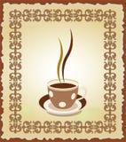 Illustratie van kop thee in het frame stock illustratie