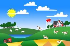 Illustratie van landbouwgrond Royalty-vrije Stock Afbeelding