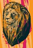 Illustratie van leeuw Royalty-vrije Stock Afbeeldingen