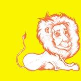 Illustratie van leeuw Stock Foto
