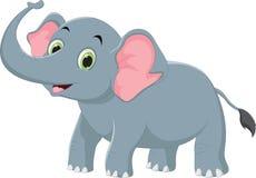 Illustratie van Leuk olifantsbeeldverhaal vector illustratie