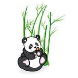 Illustratie van leuk Panda Bear in Bamboe Forrest 03 Royalty-vrije Stock Afbeelding