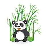 Illustratie van leuke Beer in Bamboe Forrest 3 Royalty-vrije Stock Foto
