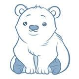 Illustratie van leuke ijsbeer Stock Fotografie