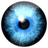 Illustratie van lichtblauwe oogiris, lichte bezinning vector illustratie