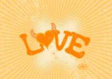 Illustratie van liefde. Vector royalty-vrije illustratie