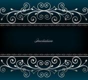 Illustratie van luxueuze uitnodigingskaart. Vector Royalty-vrije Stock Afbeelding