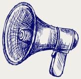 Illustratie van megafoon stock illustratie
