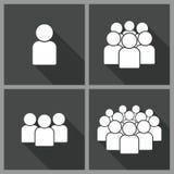 Illustratie van menigte van mensen Stock Afbeeldingen