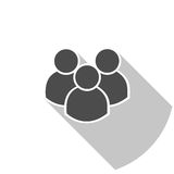 Illustratie van menigte van mensen Pictogramsilhouetten Sociaal pictogram Stock Fotografie