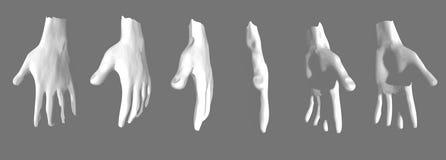 illustratie van menselijke handen Stock Fotografie