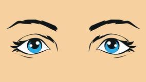 Illustratie van menselijke ogen Stock Afbeelding