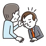 Illustratie van mensen die scalp onderzoek ondergaan vector illustratie