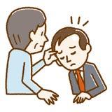 Illustratie van mensen die scalp onderzoek ondergaan royalty-vrije illustratie