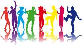 Illustratie van mensen het dansen Stock Fotografie