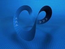 Illustratie van mobiusstrook stock illustratie