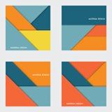 Illustratie van modern materieel ontwerp Het kan voor prestaties van het ontwerpwerk noodzakelijk zijn Stock Foto