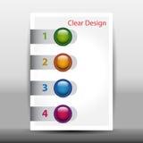 Illustratie van modern ontwerpmalplaatje met pijlen Stock Fotografie