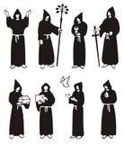 illustratie van monniken Stock Foto's