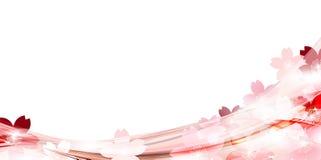Illustratie van mooie kersenachtergrond Royalty-vrije Stock Fotografie