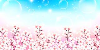 Illustratie van mooie kersenachtergrond Stock Fotografie
