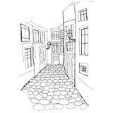 Illustratie van mooie straat vector illustratie