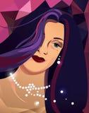 Illustratie van mooie vrouw Stock Fotografie