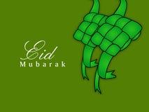 Illustratie van Moslimfestival Eid Background Stock Afbeelding