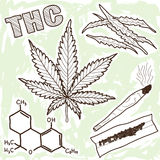 Illustratie van narcotica - marihuana Stock Afbeelding