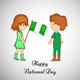 Illustratie van Nationale de Dagachtergrond van Nigeria stock illustratie