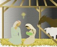 Illustratie van nativity Stock Afbeeldingen