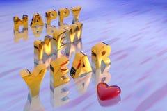 Illustratie van nieuw jaar stock illustratie