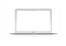 Illustratie van Nieuwe laptop van de Lucht van het Boek van Apple Mac van 2012 Stock Afbeelding