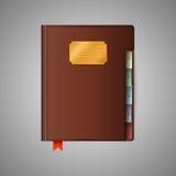 Illustratie van notitieboekje Royalty-vrije Stock Afbeeldingen