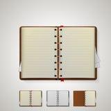 Illustratie van notitieboekjes Stock Afbeelding