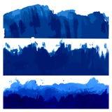 Illustratie van oceaan en de Overzeese Golven Royalty-vrije Stock Afbeeldingen