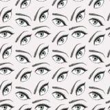 Illustratie van ogenpatroon vector illustratie