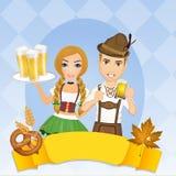 Illustratie van Oktoberfest stock illustratie