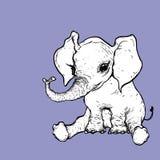 Illustratie van olifant Royalty-vrije Stock Foto